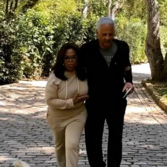 Oprah Winfrey reunited with Stedman Graham