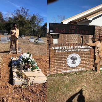 Oprah Winfrey visits grave of rape victim Recy Taylor