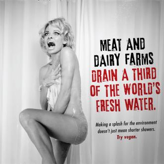 Pamela Anderson strips off for PETA