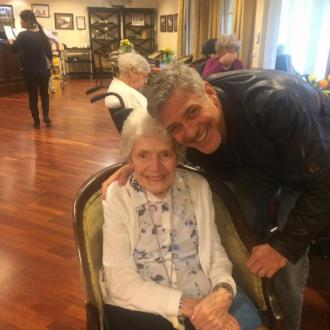 George Clooney surprises elderly fan on her birthday