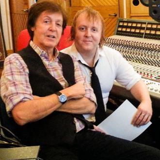 Paul Mccartney In Studio With Son