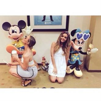 Perrie Edwards Kisses Mickey Mouse
