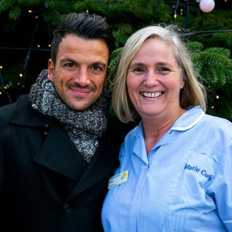 Peter Andre surprises Marie Cure nurse in London