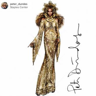 Beyoncé'S Baby Bump Made It Hard To Design The 2017 Grammy Awards Gown