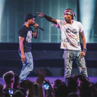 Pharrell Williams reunited with N.E.R.D bandmate on stage