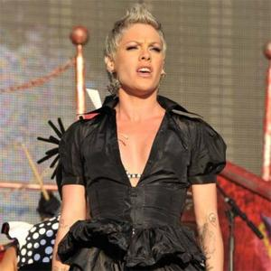 Pink Pregnant With First Child