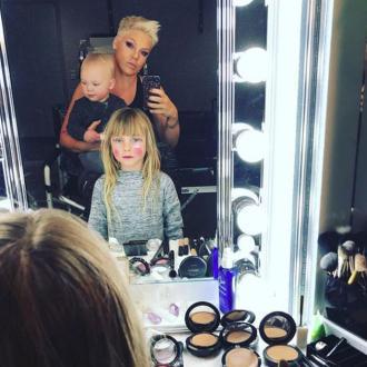Pink's mini-me makeup artist