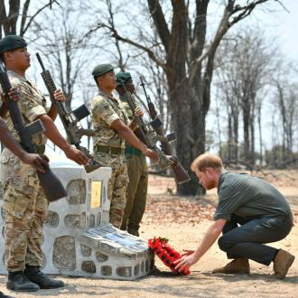 Duke Of Sussex Lays Wreath For Fallen Soldier