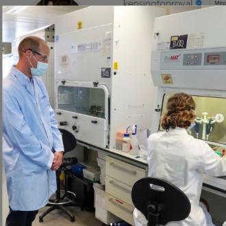 Prince William visits vaccine research facility
