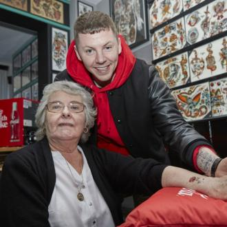 Professor Green opens OAP tattoo parlour