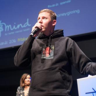 Professor Green wells up at Mind Charity Media Awards