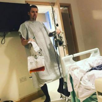 Professor Green rushed back into hospital