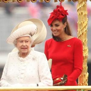 Queen And Duchess Catherine On The Royal Barge picture