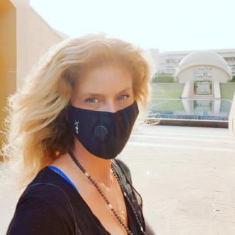 Sir Rod Stewarts ex-wife Rachel Hunter spends lockdown in an Ashram in India