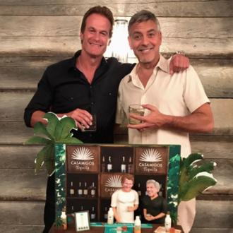 George Clooney's surprise birthday cake