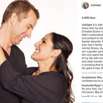 Ricki Lake announces the death of ex-husband Christian Evans