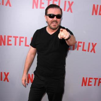 Ricky Gervais working on sitcom