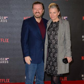 Ricky Gervais hails 'lioness mothers' who don't stop working