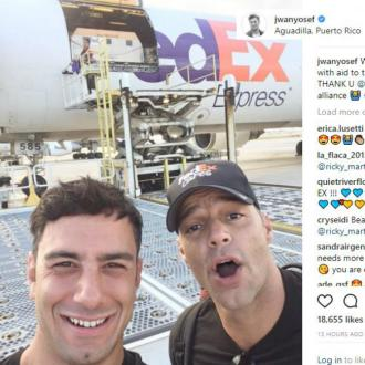 Ricky Martin flies aid to Puerto Rico
