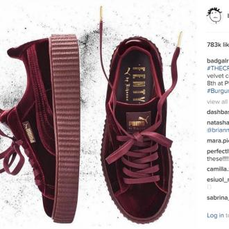 Rihanna will launch 'three new velvet' Creepers next month