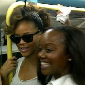 Rihanna Takes Tube Train To Concert