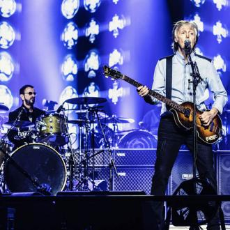 Paul McCartney reunites with Ringo Starr at London concert