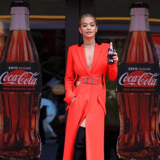 Rita Ora wows in red at Coca-Cola launch