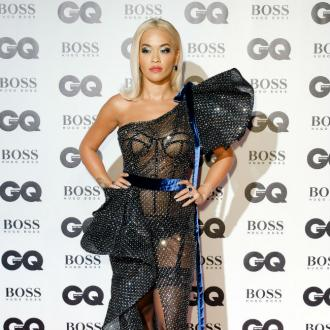 Rita Ora Flashes Knickers And Bondage Bra At Gq Awards