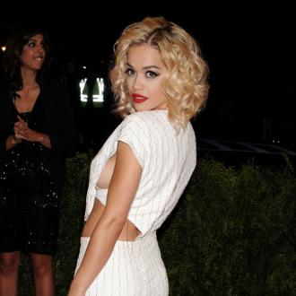 Rita Ora Caught Again In Met Ball Gown