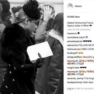 Rita Ora attends Franca Sozzani's memorial service