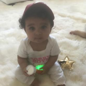 Rob Kardashian's daughter can sit up alone