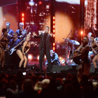 Robbie Williams BRITs set plagued with technical difficulties