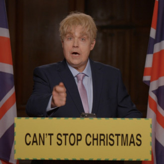 Robbie Williams transforms into Boris Johnson for Can't Stop Christmas video