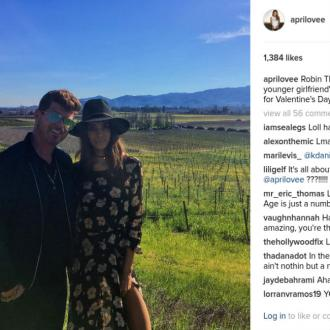 Robin Thicke's Girlfriend April Love Geary Jokes About Their Age Gap