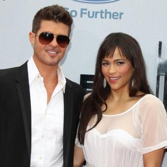 Robin Thicke Supports Paula Patton