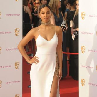 Rochelle Humes uses physio tape to keep dresses in place