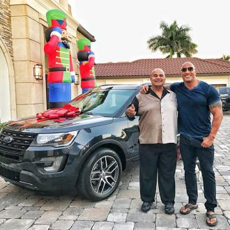 Dwayne Johnson buys his father a car