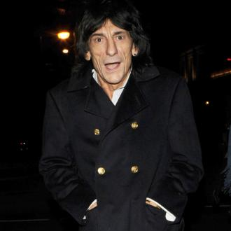 Ronnie Wood's baby grandson attends gig