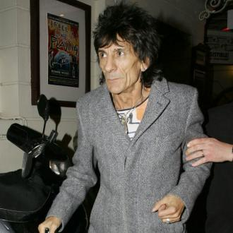 Ronnie Wood Rocks Out With Grandson