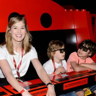 Rosamund Pike's family day out