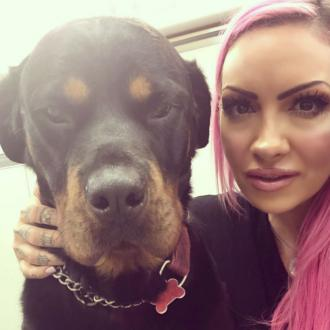Jodie Marsh's pooch must poop before she can return home