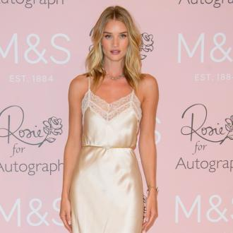 Rosie Huntington-Whiteley enjoys food