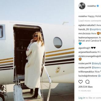 Rosie Huntington-Whiteley shares first son pic