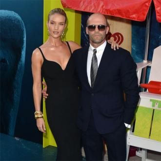 Jason Statham is Rosie Huntington-Whiteley's cheerleader