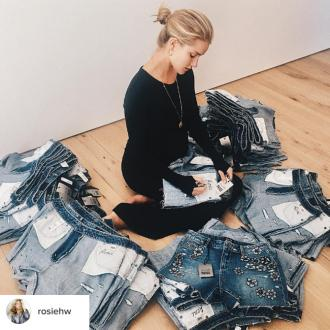 Rosie Huntington-Whiteley adds 'final touches' to new Paige collection