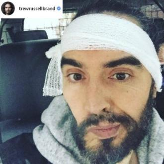 Russell Brand undergoes ear treatment after jiu jitsu injury