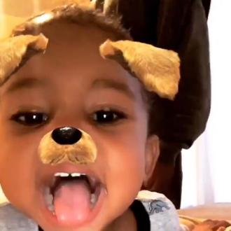 Saint West Chooses Snapchat Fun Over Kissing Mom