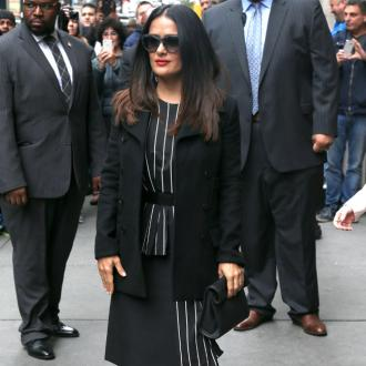 Salma Hayek Suffers Stage Fright