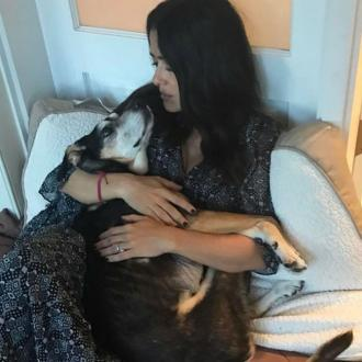 Salma Hayek Mourns Dog