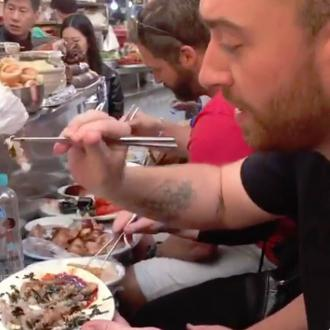 Sam Smith tried 'live' octopus